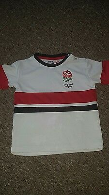 England  Rugby Top * Age 3 / 4 *  Boys / Girls * White
