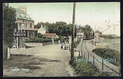 1906 Looking East Towards Pontac Railway Station Jersey Channel Islands Postcard