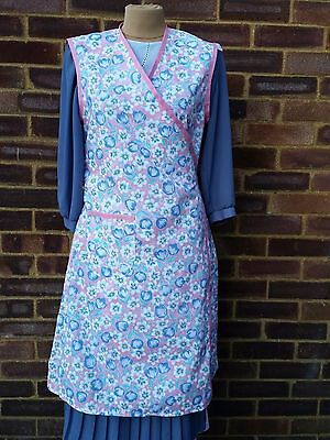 Ladies Pink Vintage 1940's Style Wrap Over Apron.War time Theatre Tearoom.