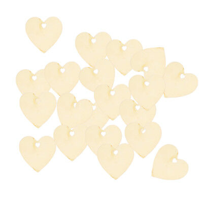 25pcs Unfinished Heart Style Wooden Pieces Shapes DIY Craft Embellishments