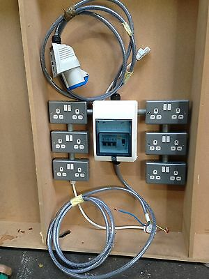 Consumer Unit 6 Double Sockets And Armoured Cable