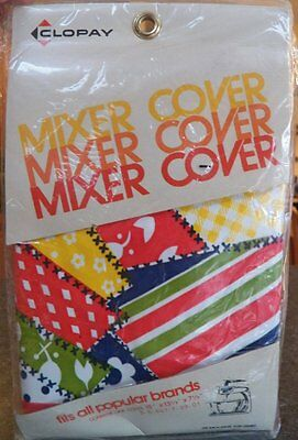 Vintage Clopay MIXER COVER Vinyl Primary Colors NEW Red/Yellow/Blue/Green RETRO