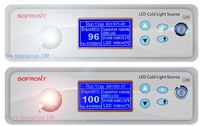 New Generat 100W LED Light Source 350W Xenon Comparable 50000hours + Fiber Cable