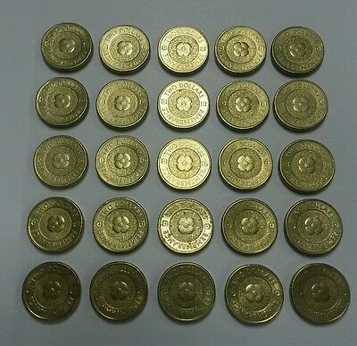 2012 $2 Gold Remembrance Poppy Anzac coins x 25