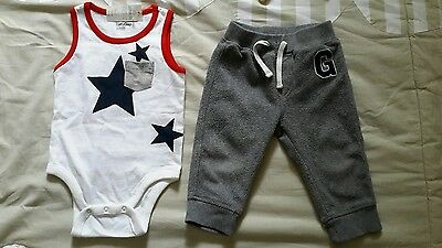 Gap bundle, top and joggers, 12-18 months, baby boy