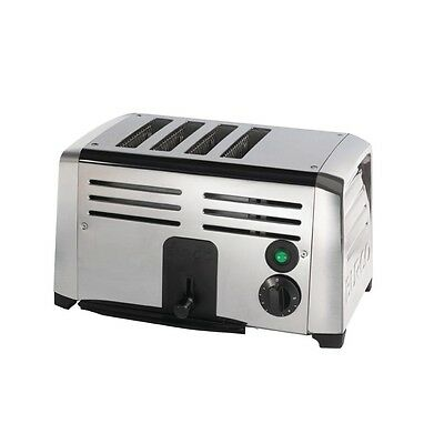 Burco Stainless Steel Commercial 4 Slice Electric Toaster - TSSL14