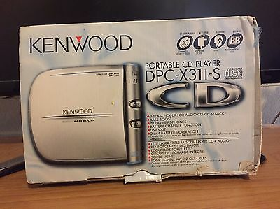KENWOOD Portable CD Player Discman + Power Adaptor - Tested And Working