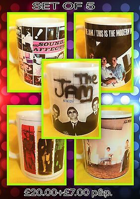 The Jam-A Set Of Five Classic Album Covers-On  Mugs-A Snip £20.00+P&p