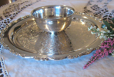 ESTATE SALE~CHIP & DIP TRAY w/BOWL~VINTAGE~ SILVER PLATED ~ONEIDA~NICE~CATERING