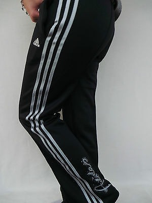 Comfortable ADIDAS children's Training Jogging sports pants black SILVER