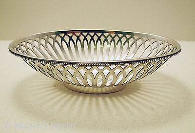 TOP QUALITY Carrington Solid Sterling Silver Bon Bon Sweetmeat Dish/Basket/Bowl