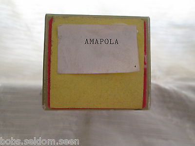 Player Piano Roll - Manufacturer Unknown:  Amapola