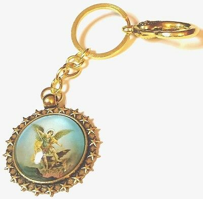 Potent Archangel Michael Amulet Keyring for Angelic Protection From Danger.