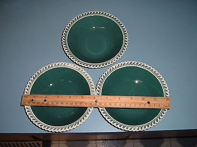 Harker Ware Pate Sure Pate Corinthian 3 Soup/Salad/Cereal Bowls Small 6 inches