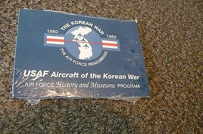 Korean War Aircraft Collectors Cards From USAF Museum (New, Still In Shrinkwrap)