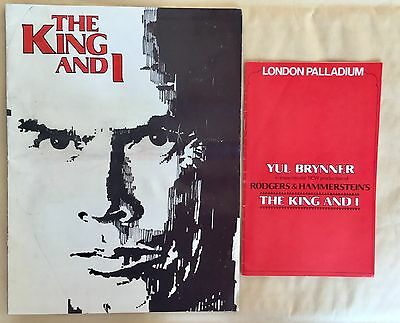 1979. YUL BRYNNER in The King and I.  London Palladium. Brochure & Programme.