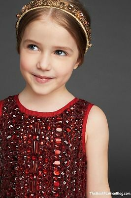 Dolce & Gabbana Girls Jewel Embellished Ruby Red Dress New BNWT age 3 RRP £2295