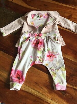Ted baker girls jacket 6-9 months Light Pink Plus Trousers