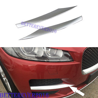 Matte Front Side Corner Mesh Grill Cover Trim Fit For Jaguar F-Pace 2017 2018
