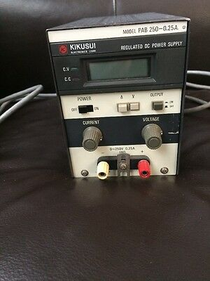 Kikusui Model PAB 250-0.25A Regulated DC Power Supply