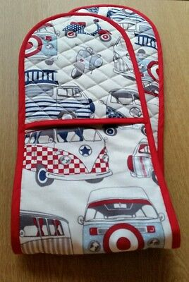 Handmade Quilted Tea Cosy & oven gloves kitchen set campervan scooter moped gift