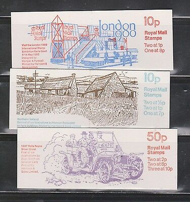 Great Britain Scott # BK233,226,227 Mint Never Hinged - 3 Complete Booklets
