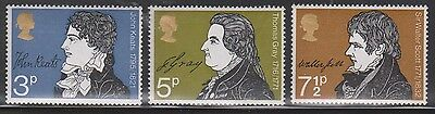 Great Britain Scott # 651-3 Mint Never Hinged - British Writers & Signatures