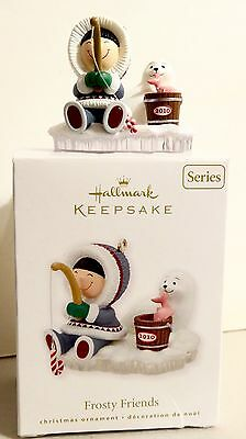 HALLMARK 2010 ~ FROSTY FRIENDS 31ST IN THE SERIES ESKIMO FISHING with SEAL (MIB)