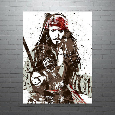 Jack Sparrow Pirates of the Caribbean Disney Movie Poster FREE US SHIPPING