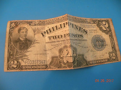 Philippines Two Pesos Series No. 66 Wwii Victory B10