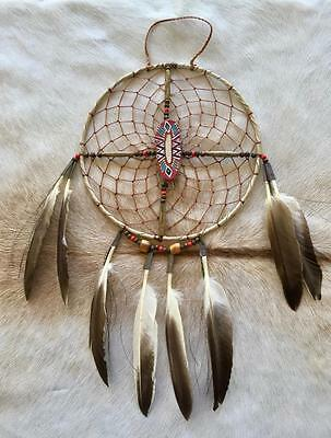 "New Native American Navajo Dream Catcher Medicine Spirit Wheel 8"" Collectible 14"
