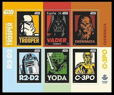 Spain 2017 Films Star Wars Space Darth Vader George Lucas Lenticular M/sheet Mnh