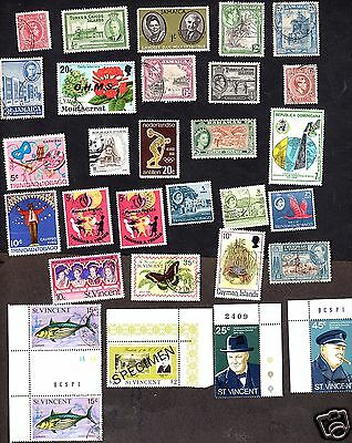Caribbean Stamps Used Lot