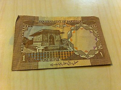 Vintage Government Of Pakistan One Rupee Note Paper Dollar Money Au43 2661871