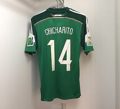 Adidas Mexico 2014 Home Jersey Small Short Sleeve SS FIFA World Cup Chicharito