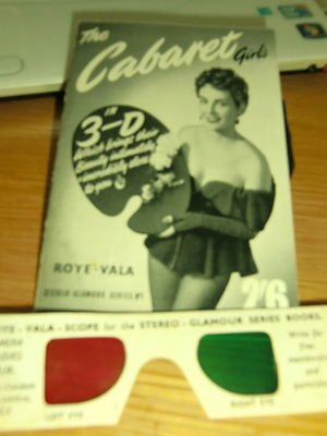 THE CABARET in 3-D ROYE-VALA Stereo Glamour Series Booklet/GLASSES PAPERBACK