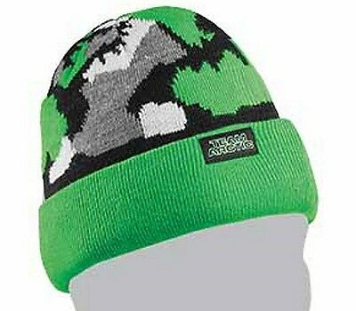 f36a014b9e9 Arctic Cat Youth Team Arctic Camo Beanie - Lime Green Urban Camouflage  5253-173