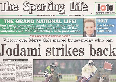 The Sporting Life Newspaper - Monday February 6, 1995