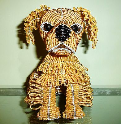 New Beadworx Golden Retriever Puppy Dog  Nwt