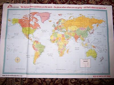 """political map of the world (16"""" x 24"""")"""