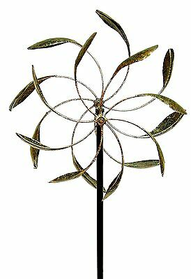 Wind Spinner Garden Yard Decor Kinetic Windmill Dual Turbine Outdoor Stake New
