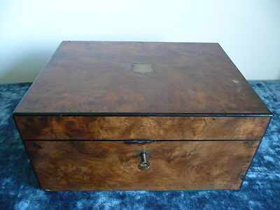 Antique Victorian Parkins and Gotto, Burr Walnut Writing Slope.