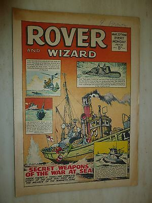 Comic- THE ROVER and WIZARD - 23rd March 1968