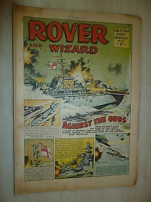 Comic- THE ROVER and WIZARD - 9th March 1968
