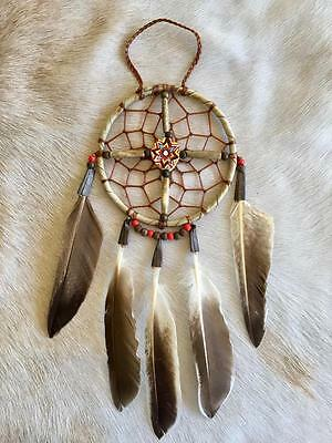 "New Native American Navajo Dream Catcher Medicine Spirit Wheel 4"" Collectible 4"
