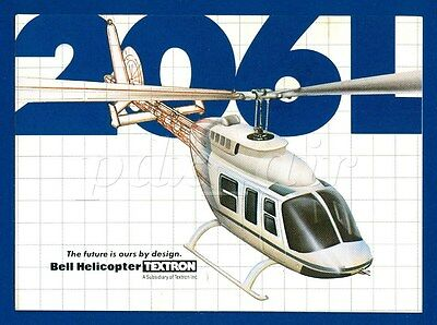 206L Two Blades, Single Or Twin Engined Bell Helicopter Sticker