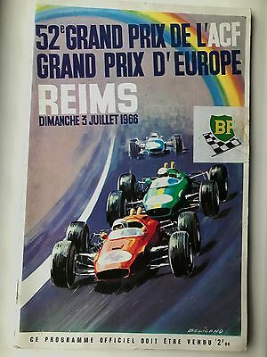 F1 Grand Prix Europe 1966 @ Reims France Programme