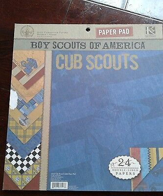 Boy Scouts of America 12x12 Double sided scrapbook paper. 19 sheets cub scouts