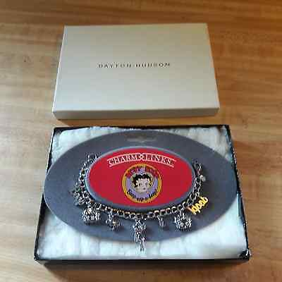 1990 Betty Boop Charm Links Bracelet in Dayton-Hudson Box With Price Tags