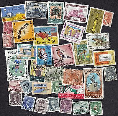 Iraq - Packet of 35+ postage stamps - all different - B6735